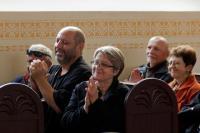 Návštěvníci Mikroměsta v synagoze Agudas Achim. ©Muzeum romské kultury. Autor fotografií Petr Kačírek.