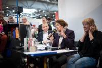 Vystoupení autorů Tomáše Glance a Silvie Richterové, scénické čtení Steffi Böttger, foto: Felix Abraham
