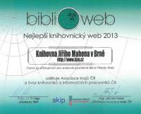 Ocenění za nejlepší knihovnický bezbariérový web