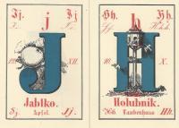 Malý slabikář z Landfrasovy tiskárny,  Čechy, 2. pol. 19. stol., Fond Jindřichohradeckých tisků,  Knihovna Muzea Jindřichohradecka