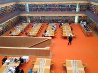 Hlavní studovna ve Státní knihovně v Berlíně (Unter den Linden) Foto: Marie Šedá