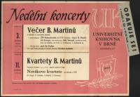 Plakát ke dvěma koncertům v Univerzitní knihovně (prosinec 1960)