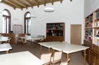 Interiér nově zrekonstruované knihovny  Slezského zemského muzea