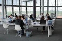 Studijní místa - Univerzitní knihovna Braniborské technické univerzity v Chotěbuzi Foto: Miroslav Bünter