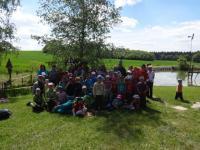 6. literárně turistické putování dětí, rodičů a knihovníků regionu Blansko dne 21. 5. 2016, fotografie Helena Jalová