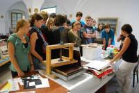 Výroba ručního papíru v rámci Týdne knihoven v Muzeu Jindřichohradecka