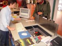 Chemnitz - výpůjční pult knihovny