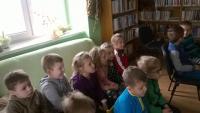 Děti z MŠ na akci v knihovně Hostěrádky-Rešov