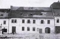 Dům Františka Kučery - Hostinec U Františků, na fotografii patrně kolem r. 1900