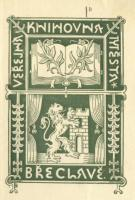 Exlibris břeclavské knihovny z 30. let minulého století od Josefa Barucha