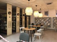 Nově vytvořená klidová zóna v knihovně