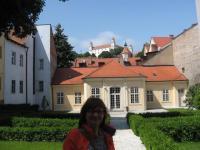Lisztův pavilon a autorka článku