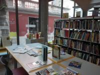 Interiéry knihovny v Pirani