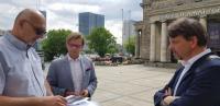 Jednání ve Varšavě - setkání se zástupci veletrhu - Jacek Oryl, Krafl, Kubíček