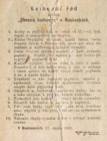 Knihovní řád Obecné knihovny ze 17. února 1891