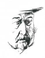 Portrét Jiřího Mahena od Bohdana Laciny