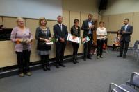 Nominované osobnosti na cenu Knihovnická osobnost JMK, paní Jitka Severová první vlevo