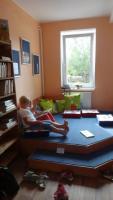 Nový dětský koutek v Obecní knihovně Křtěnov, okres Blansko, fotografie Helena Jalová