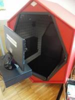 Poslechový box v knihovně v Grosuplje