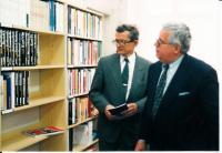 Jaromír Kubíček, ředitel MZK, Peter Niesner, velvyslanec Rakouské republiky v ČR