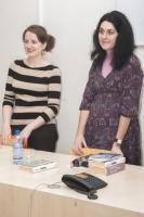 Setkální s Evou Talpovou (vpravo), foto: Mirka Holasová