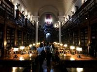 Veřejnosti jinak nepřístupná učební místnost v Biblioteca Universitaria di Bologna