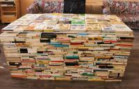 Výpůjční pult v Obecní knihovně Terezín