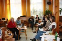 Jednání sekce IVU v hudebním oddělení Krajské knihovny Františka Bartoše ve Zlíně